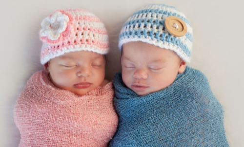 bigstock Two Beautiful Twins Baby 75578488